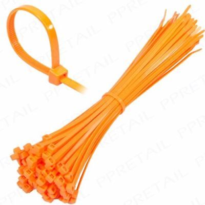 Neon Orange Plastic Nylon Cable Ties Long Wide Extra Large Zip Tie Wrap Colours