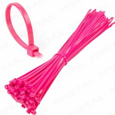 Neon Pink Plastic Nylon Cable Ties Long Wide Extra Large Zip Tie Wrap Colours