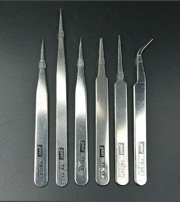 Precision Tweezer Set Metal Anti Static