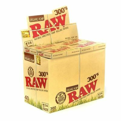 Raw 300 Organic 1.25 1 1/4 Size Rolling Papers 10 Pack 3000 Leaves