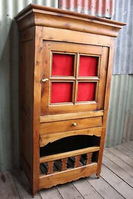 A Vintage Distressed French Provincial Cottage Kitchen Cabinet