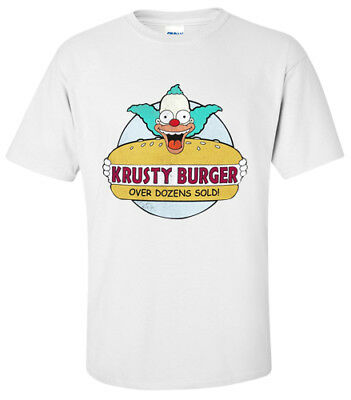 KRUSTY THE CLOWN KRUSTY BURGER T-Shirt SMALL,MEDIUM,LARGE,XL