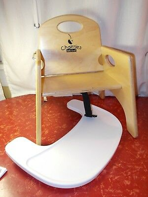 CHAIRRIES Jonti-Craft Wooden Booster Seat High Chair w/o Straps With TRAY
