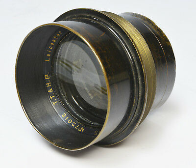 Antique brass lens Taylor Taylor & Hobson Cooke Aviar 8¼ Inch f4.5