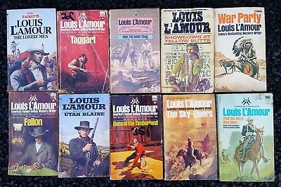 Job lot of 10 x Various Cowboy Western Paperback Books Lot 53 -All Louis L'Amour
