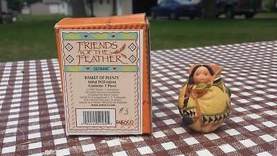 Enesco Friends of The Feather Figurine 'Basket Of Plenty' w/ Box
