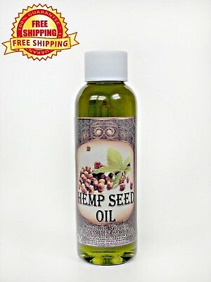 HEMP SEED OIL UNREFINED ORGANIC CARRIER VIRGIN COLD PRESSED RAW PURE 2 oz.