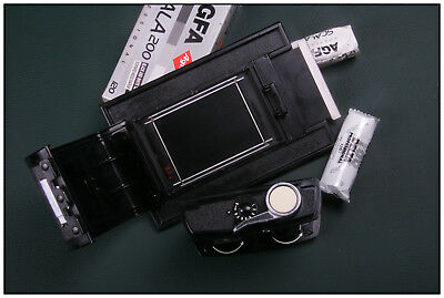4x5 Linhof Sinar Graflex-Singer  8EXP 120 Roll Film Back Holder 6x9