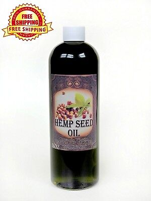 HEMP SEED OIL UNREFINED ORGANIC CARRIER VIRGIN COLD PRESSED RAW PURE 16 Oz.