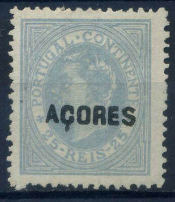Azores 1880 Mi. 33 MNG 100% overprinted 25 R, King Louis I