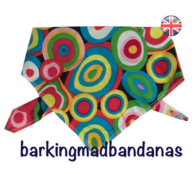 Handmade Dog Bandana Dog Bandanas, Retro Pattern, Neckerchief Tie Style UK