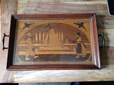Vintage Inlaid Butlers Tray