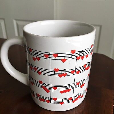NAPCO National Potteries Corp. Love/Heart Music Notes Coffee Mug