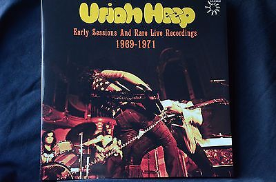 "Uriah Heep Early Sessions + Rare Live Recordings '69 - '71' 2 x 12"" vinyl LP New"