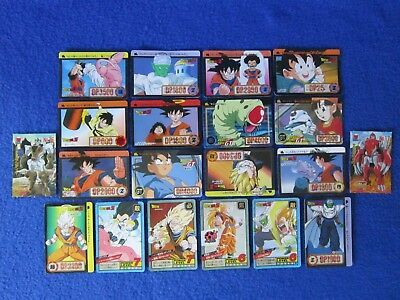 20 Dragon Ball Z Cards Collectible Toy Game Piece Made In Japan 1994 1995 1999