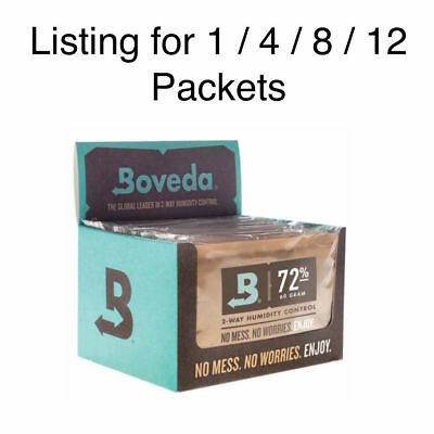 NEW Boveda 72% RH Humidity Control Large 60 Gram Size Individually Wrapped