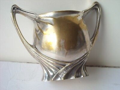 FOLLOT Paul,Sugar? Creamer?,Art  Nouveau,silverplate,signed