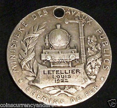 French Railroad Service Medal 1922
