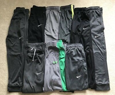 HUGE Lot of Boys Nike Under Armour Sweatpants Size Large YLG