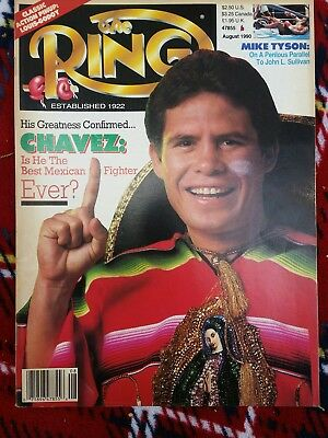 The ring boxing magazine - Julio Cesar Chavez - August 1990