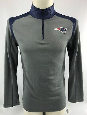 Men s New England Patriots Long Sleeve 1 2 Zip Shirt Unisex Small NFL Top  NEW 542acd0f9