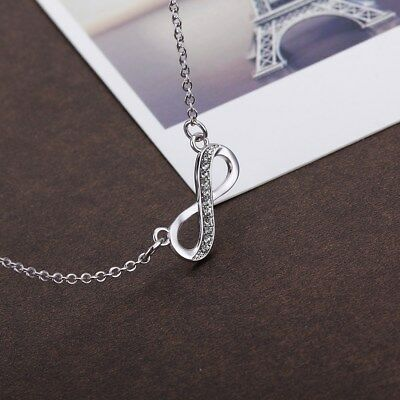 Stainless Steel Infinity Love Charm Womens  Jewelry Durable Necklace Gift