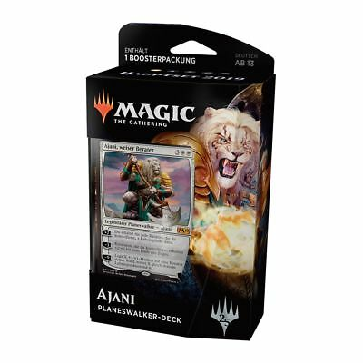 Magic Hauptset 2019 Planeswalker Deck Ajani (Deutsch) Magic Starter + 1 Booster