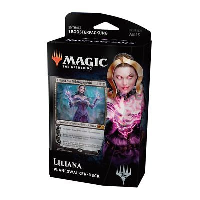 Magic Hauptset 2019 Planeswalker Deck Liliana (Deutsch) Magic Starter +1 Booster