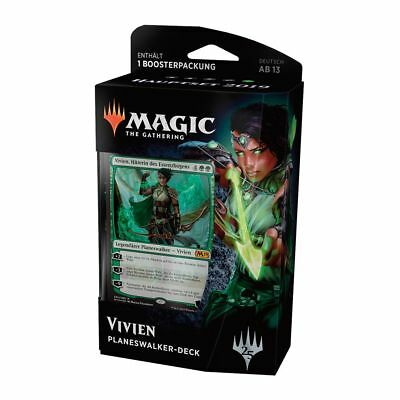 Magic Hauptset 2019 Planeswalker Deck Vivien (Deutsch) Magic Starter + Booster