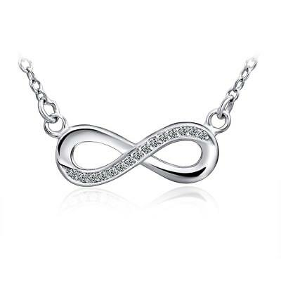 Stainless Steel Infinity Love Charm Womens Beauty Jewelry Durable Necklace Gift
