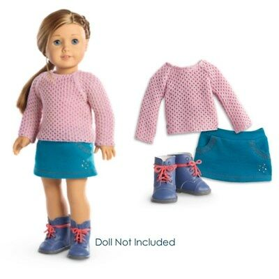 "NEW American Girl Truly Me Sparkle Sweater Outfit for 18"" Dolls Clothes Boots"