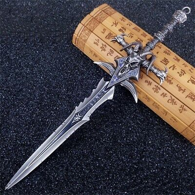 World of Warcraft Frostmourne Sword Lich King Arthas Metal Blade Weapon Prop Toy