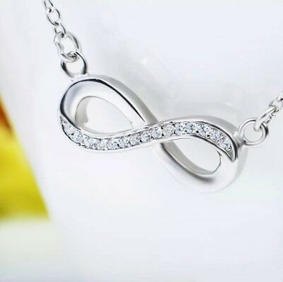 d9bf7c8ec Hearts With Rose Necklace Infinity Love Pendant w 19 Swarovski Crystals  Controse