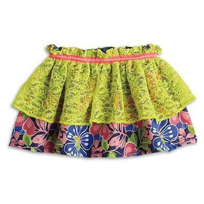 American Girl Truly Me Tiered Tropical Skirt With Hanger for 18-inch Dolls