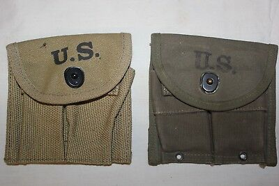 .30 M1 CARBINE  BUTTSTOCK POUCH and OD Green Belt Pouch Lot Set 2