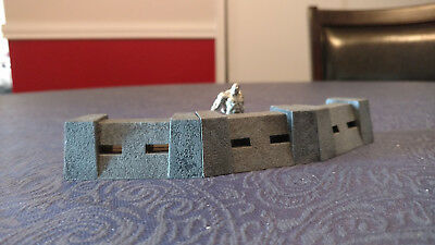 Rackham AT-43 3 Walls Bunker Defense WW2 scenery Sci-fi RPG 40K Double single !!