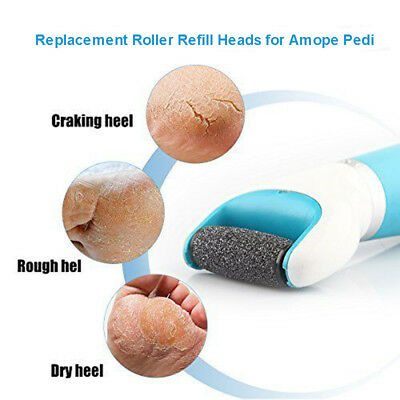 8Pack Extra Coarse Replacement Refill For Amope Pedi Perfect Wet Dry Roller Head