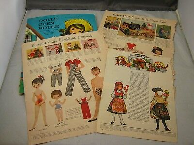 Ephemera Lot Paper Dolls 1950s and 1970s Betsy McCall 1960s 3-D Pop up