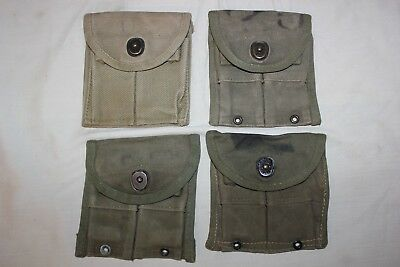 US Military WW2 .30 M1 CARBINE  BUTTSTOCK POUCH and OD Green Belt Pouches Lot 4