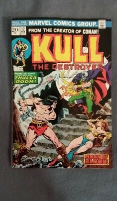 Marvel Comics Kull the Conqueror #12 (1973) FN-VF See photos Free Bag/Board