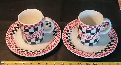 Lot Of 2- Vintage Coca-Cola *1996 Cups & 97 Saucers* Great Shape!
