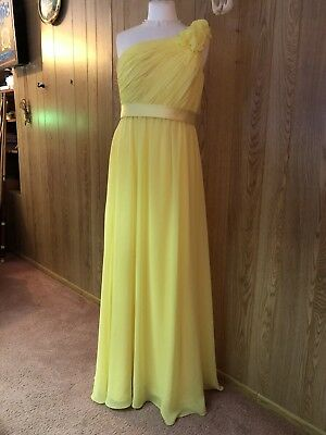 Yellow Allure womens long evening gown, Size 12
