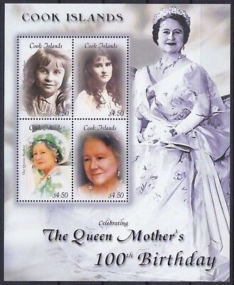 Cook Islands Mi-Nr. 1499 - 1502 KB **, Queen Mom - 100th Birthday (24 ME)