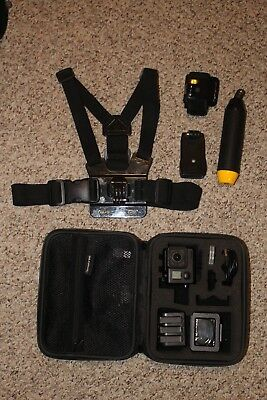 USED GoPro Hero 4 Black Action Camcorder with MicroSD Card, Mounts, 4 Batteries