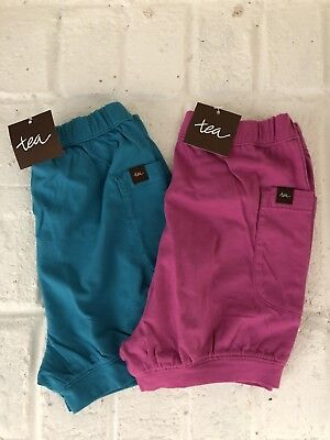 Tea Collection Easy Pocket Shorts Set Of 2 Size 18-24 Months NWT