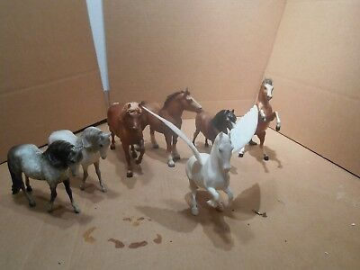Traditional Breyer Lot of 7 w/ PEGASUS  GOOD CONDITION