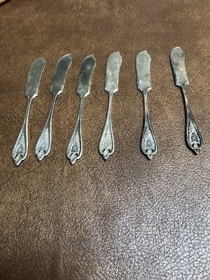 1847 ROGERS BROS Old Colony Pattern XS Triple Silverplate Small Knives 6 pieces