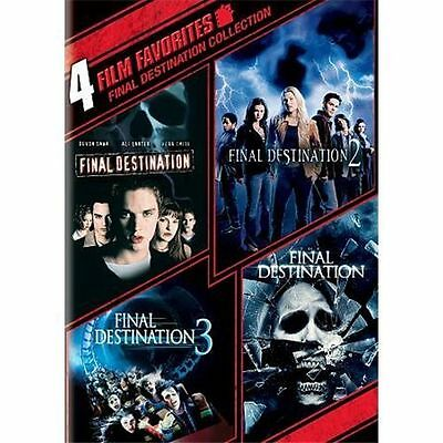 Final Destination Collection: 4 Film Favorites (DVD, 2010, 2-Disc Set, WS) NEW