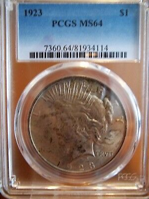1923 Pcgs Ms64 Peace Silver Dollar