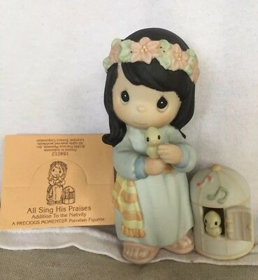 Precious Moments-All Sing His Praises-184012-Porcelain figurine. Nativity add-on
